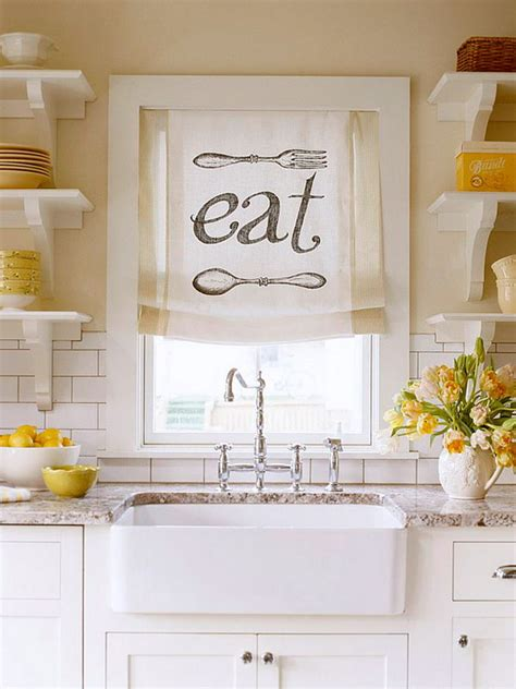 Kitchen Window Curtains Ideas Creative Kitchen Window Treatment Ideas Hative