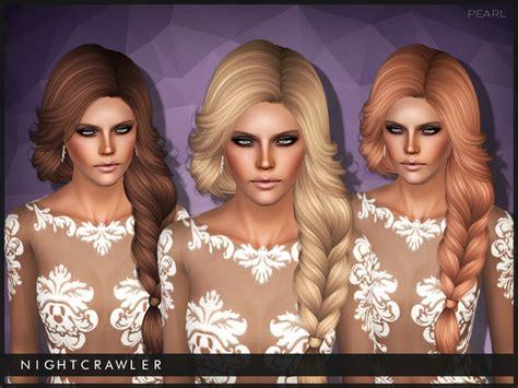 sims 3 hair braid tsr the sims resource over nightcrawler sims nightcrawler pearl