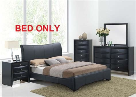 Size Bedroom Sets by Harrison Bedroom Set Modern 1pc King Size Bed Black