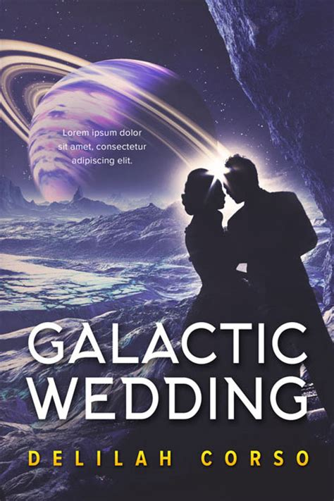 Premade Book Covers Wedding by Galactic Wedding Space Premade Book Cover For