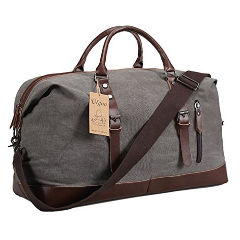 A Weekend Bag For The by Ulgoo Travel Duffel Bag Canvas Bag Leather Weekend Bag