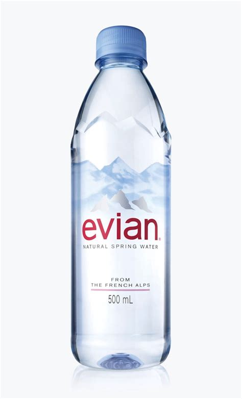 Sleek Bottle 500ml evian unveils its sleek bottle redesign designtaxi