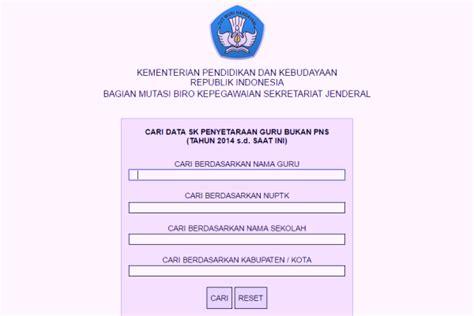 sk inpassing guru non pns 2015 cek pengesahan sk inpassing bagi guru non pns