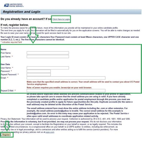how to apply for usps at usps employment