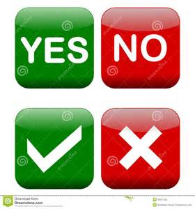 is white a color yes or no yes and no buttons stock photography image 33617032