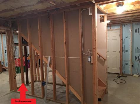 identiying load bearing wall for stud removal