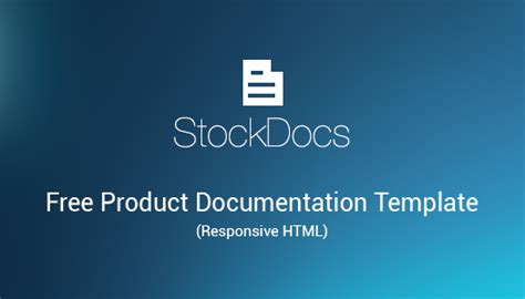 free html product page template free product documentation html template stockdocs