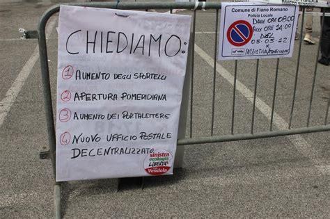 ufficio postale fiano romano manifestazione di protesta di sinistra ecologia e libert 224
