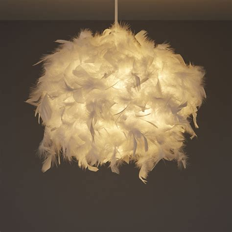 colours melito white feather ball light shade dmm