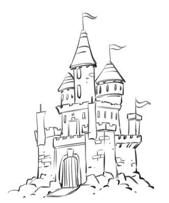 castles coloring pages  coloring  pinterest