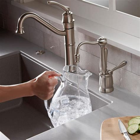 Water Dispenser Faucet Only by Insinkerator F Hc2200sn Indulge Antique And Cool Water Dispenser Faucet Only Satin Nickel