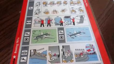 Collection Of Airline Safety Cards by Airline Safety Card Collection