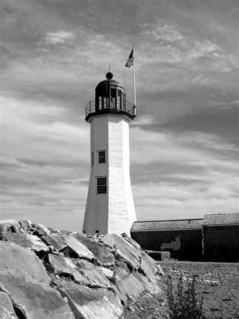 lighthouse black  white photograph  barbara mcdevitt