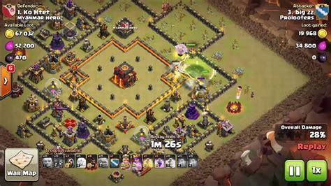 clash of clans layout editor red tree 3 star a th10 ring base with govaho with qw and miners in