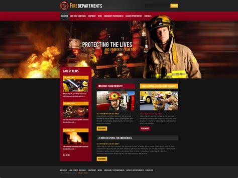 Fire Department Website Template 32454 Free Department Website Templates