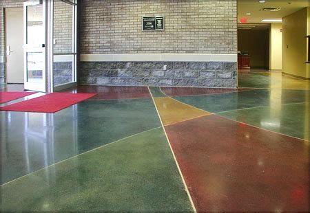 Colored Concrete Flooring   View Specifications & Details