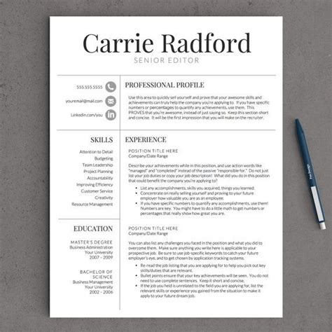 professional templates for pages 141 best images about professional resume templates on