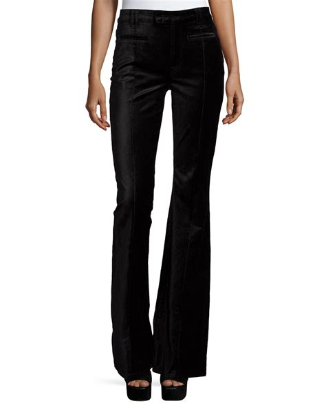 7 For All Mankinds Leg In by Lyst 7 For All Mankind The Pintuck Flare Leg Trousers In