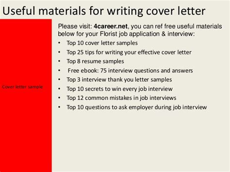 Affirmative Insurance Letter Of Experience florist cover letter