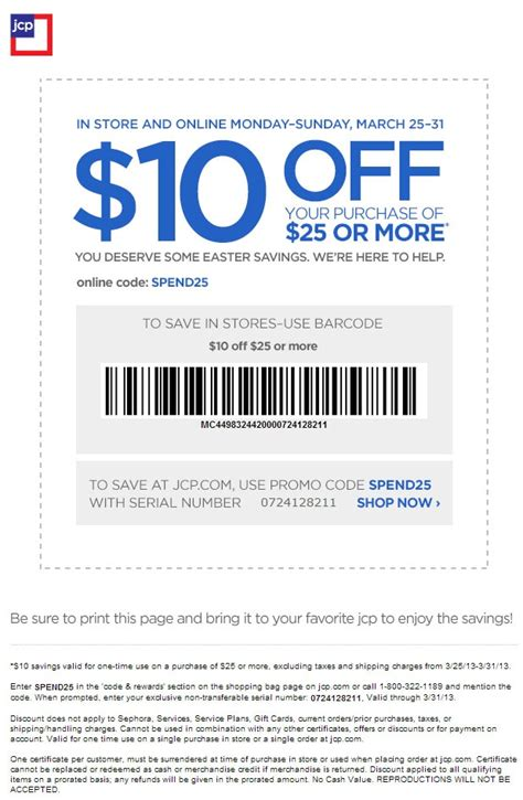 jcp printable store coupons jcpenney in store printable coupons 10 off 25