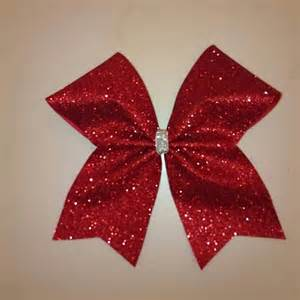 glitter cheerleading bows
