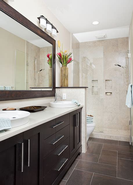 narrow bathroom ideas long and narrow guest bath transitional bathroom