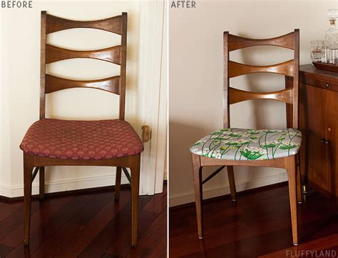 before after recovered dining room chair fluffyland