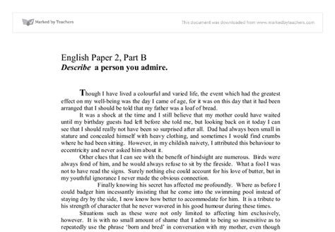 Someone I Admire Essay by Descriptive Essay Help