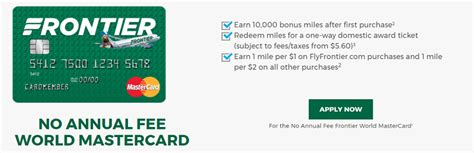 Frontier Airlines Gift Card - frontier airlines world mastercard 10 000 miles offer no annual fee