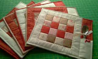 Pdf pattern for 6 quilted placemats coasters by justjudedesigns