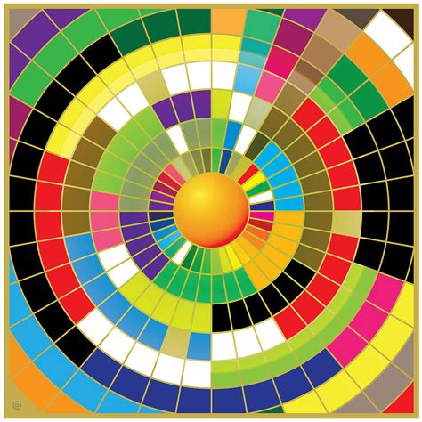 color wheel painting by gary grayson