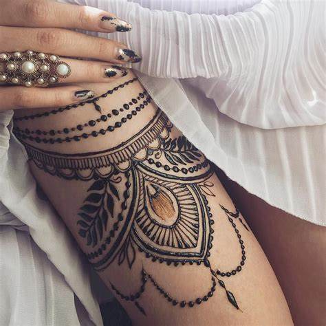 henna tattoos for legs thigh garter henna at kyiv ukraine work
