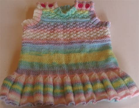 pattern knitting baby dress baby pinafore pattern a free knitting pattern for a babies
