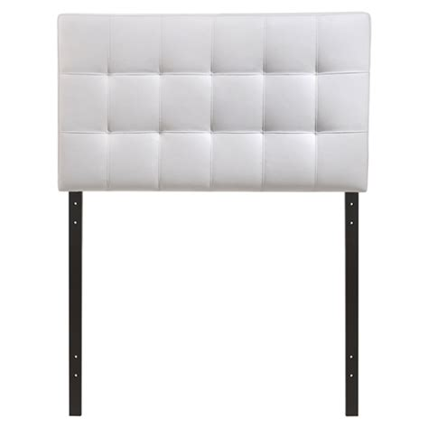 white tufted headboard twin lily twin leatherette headboard tufted white dcg stores