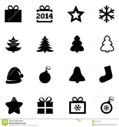 new year icon vector black flat icons new year 2014 icons stock