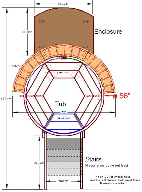 Inch Coffee Table - tub in deck plans