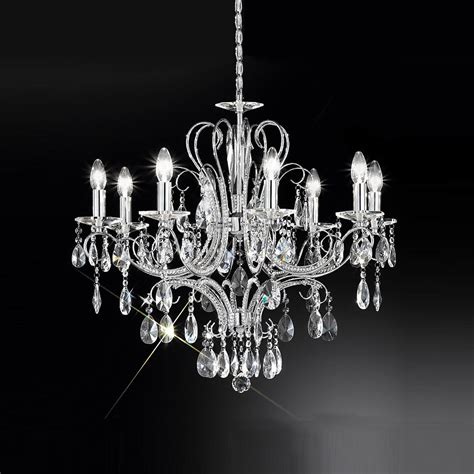 Decorating A Small Home amazing 8 light crystal chandelier decorating home ideas