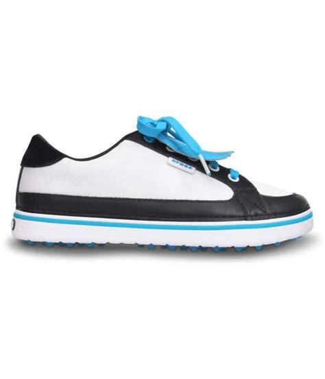 croc golf shoes crocs braydn golf shoes white blue golfonline