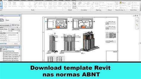 download template revit nas normas abnt df projetos