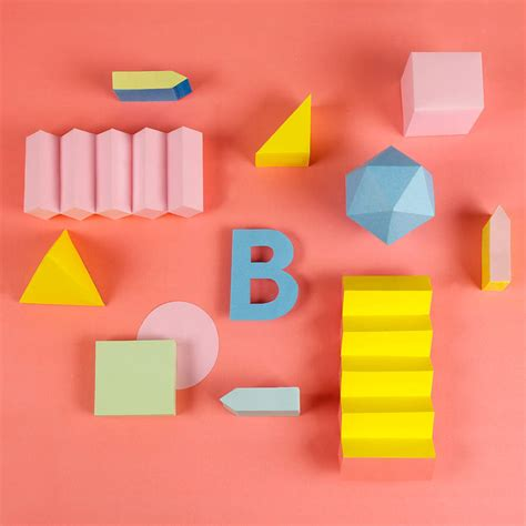 Papercraft Alphabet - colorful paper craft alphabet fubiz media