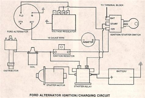 ford voltage regulator wiring diagram ford free engine