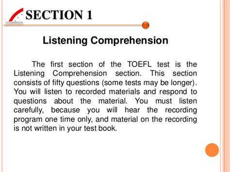 toefl listening section presentasi toefl