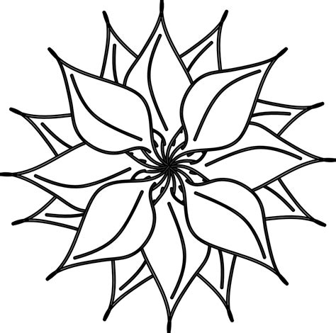 Flower Clipart Black And White flowers clip black and white many flowers