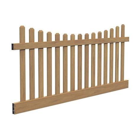 glendale 4 ft h x 8 ft w vinyl spaced picket unassembled