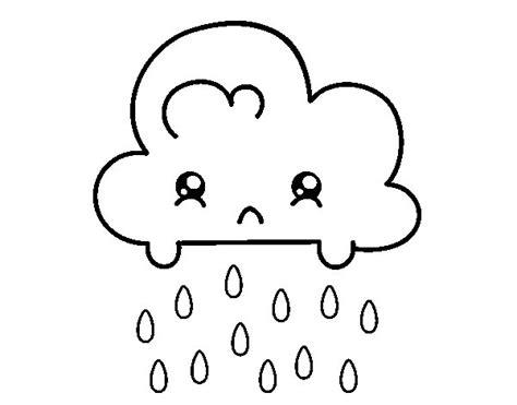 imagenes de kawaii para colorear dibujo de nube kawaii para colorear dibujos net
