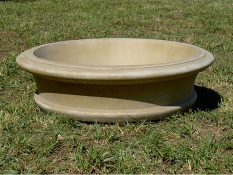 Concrete Bowl Planter fairfield fiber reinforced concrete bowl planter