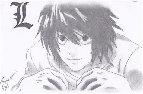 Deathnote - L Sketch by AureliaDominiqueVida on DeviantArt L Death Note Drawing