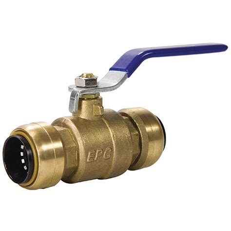 Push Fit Valves Plumbing by Shop Blue Hawk Brass 3 4 In Push Fit Valve At Lowes