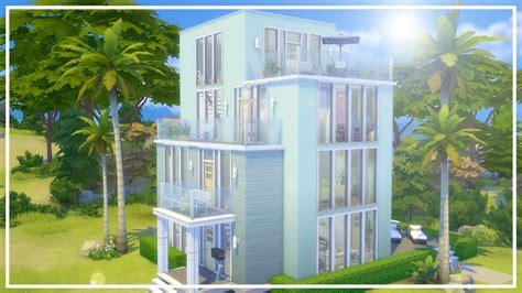 the sims 4 speed build dillan s modern beach home youtube modern beach house the sims 4 speed build youtube