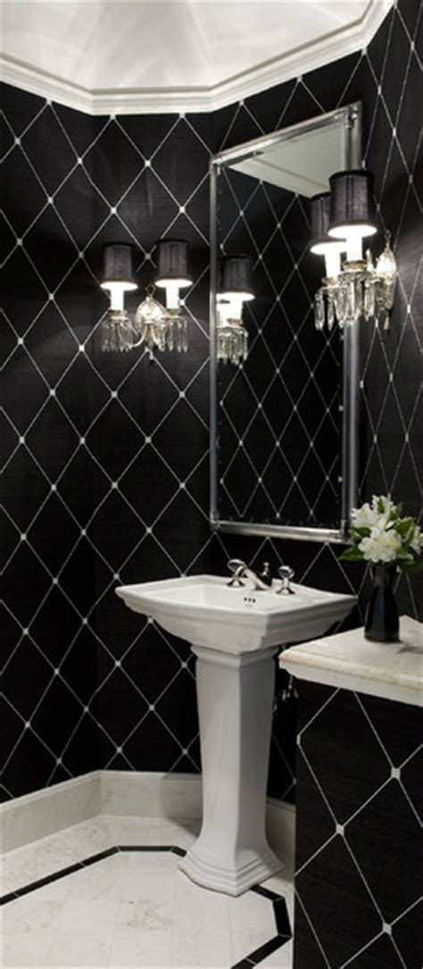 Black White And Silver Bathroom Ideas by 28 Powder Room Ideas Decoholic